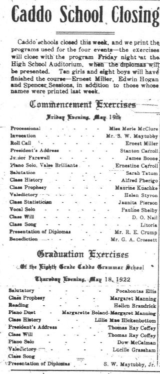 School 1922
