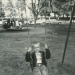 Jim on swing at Roeding Park.