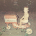 John on toy tractor, 1968.