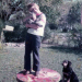 John with cat and dog.