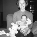 Mom with baby John.