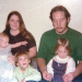 With first wife, Debbie, and children Terri, Jason, and Megan.