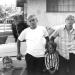 John, James, Karen, and Dan at Bea's house in CA.