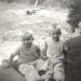 Jim and Dan in yard, 1962.