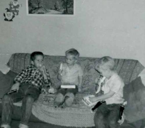 David, James, Dan, Christmas in Highway City, CA.