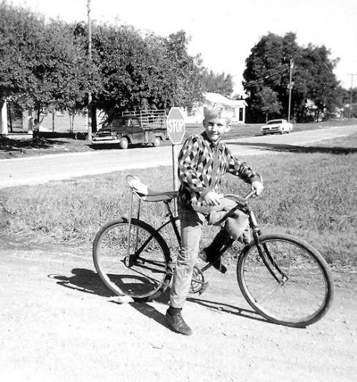 Dan on bike, 1969.