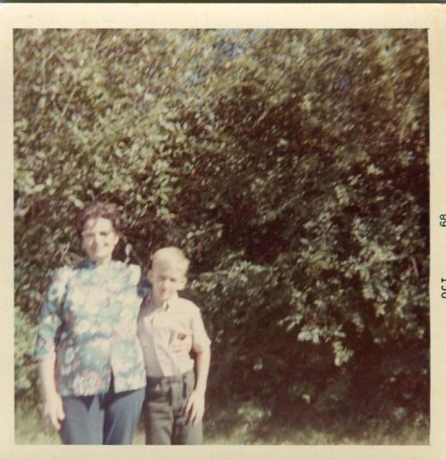 Dan with Gran, 1968.