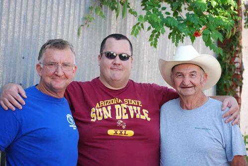 Dan, Robert Maurer, and Dad at Heritage Day.