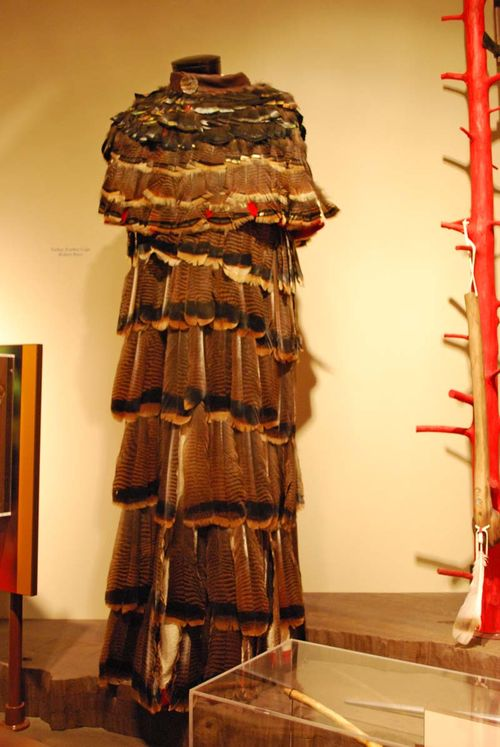 Turkey feather dress