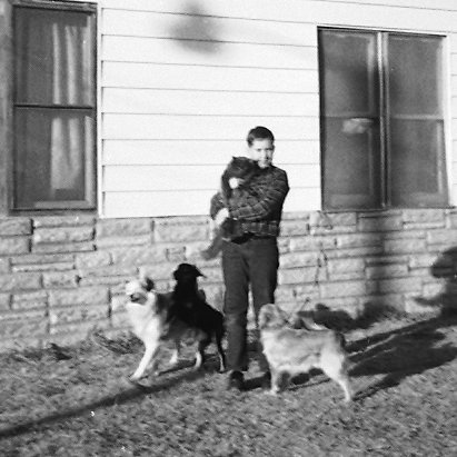 David with our dogs in Highway City.