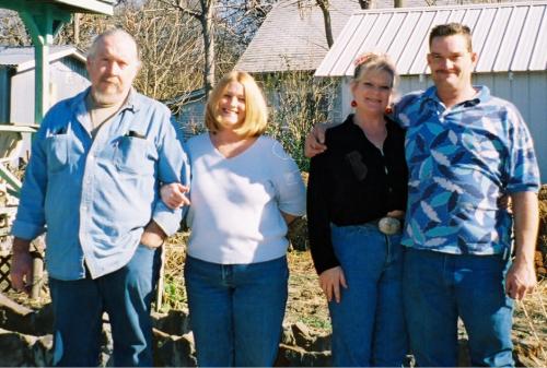 David, Brenda, Kim, John at Mom's.