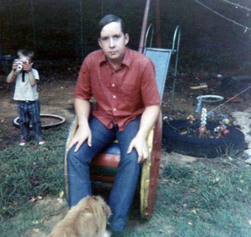 David at Mom's; John in background.