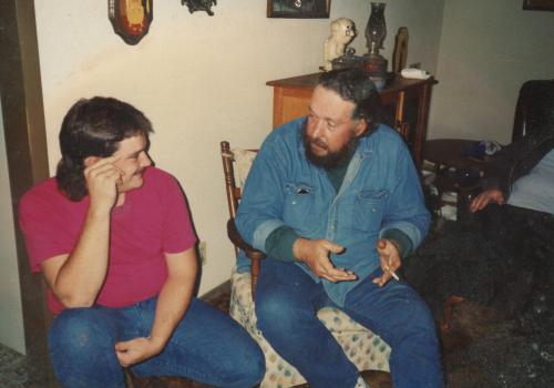 John and David at Mom's.
