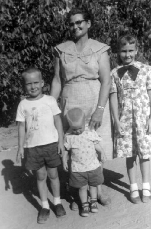 With Grandma Bea.